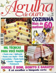 Agulha de Ouro 60 Cross Stitch Magazines, Web Gallery, Le Point, Needlepoint, Books, Albums, Stitching, Patterns, Sewing
