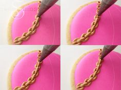 Cookie Tutorial – How to Make a Simple Royal Icing Gold Chain