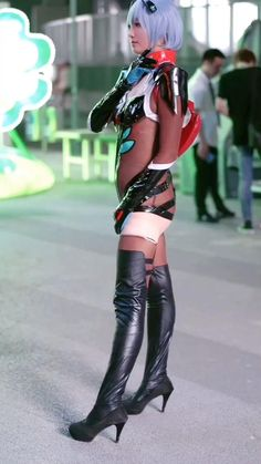 Vi Cosplay, Cute Cosplay, Anime Cosplay, Cosplay Girls, Knee Boots, Punk, Sexy, Model, Outfits