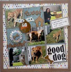 Dog Scrapbook Layouts, Scrapbook Sketches, Scrapbook Paper Crafts, Scrapbook Cards, Vacation Scrapbook, Scrapbook Templates, Scrapbook Journal, Disney Scrapbook, Scrapbook Albums