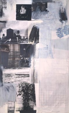 Robert Rauschenberg Monochrome collage with screen print