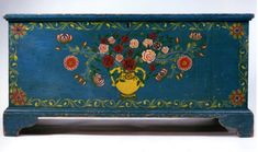 Paint decorated blanket chest, Albany County, New York, circa 1830.