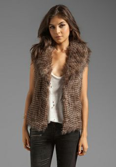 Jack by BB DAKOTA Davorah Faux Fur Vest in Taupe at Revolve Clothing - Free Shipping!
