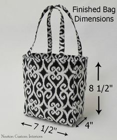 With this step-by-step tote bag tutorial, you'll learn how to make this cute tote bag which makes a functional bag for yourself or a great gift.