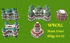 Custom Scenery Depot - Theme Park Games - WWAL-Main St. Bldgs, Set 01