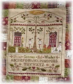 Song of the Seasons Mystery Sampler by LIttle House Needleworks