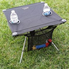 Amazon.com: HEAVY-DUTY Oasis Super Compact Table-UNIQUE W/ UMBRELLA HOLE!-10 Years Warranty-High Quality Product-A BONUS SOLAR RECHARGEABLE LED MINI FLASHLIGHT INCLUDED WITH YOUR TABLE.....: Sports & Outdoors