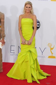 Julie Bown in Monique Lhuillier 2012 Emmy Awards