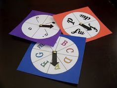 Spinners for teaching music! Could use with Music Alphabet, Notes, Rests, Solfege, etc.