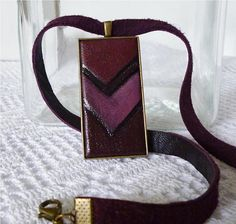 Leather Pendant Burgundy Extravagant Necklace for Women, Rectangular Jewelry Pendant Leather Necklace, Leather Jewelry, Unique Gifts, Best Gifts, Leather Photo Albums, Leather Gifts, Leather Journal, Customized Gifts, Gifts For Mom