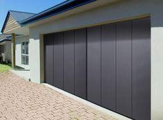 Brilliant Sliding Garage Doors Design in Grey Color Using Modern ...