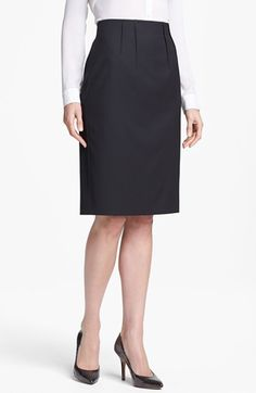 Halogen® Pleat Jacquard Suit Skirt available at #Nordstrom