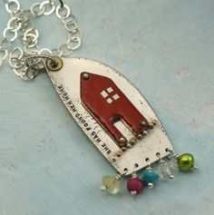 Mixed metal jewelry. Cool to make for Kayla with each of their birthstones.