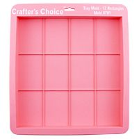 Crafters Choice™ Tray - 12 Rectangles - Glossy Silicone Mold 1701 - Wholesale Supplies Plus