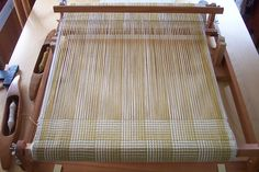 Magic steps pattern on a rigid heddle loom