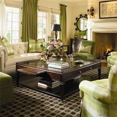 Love the warmth and pops of green