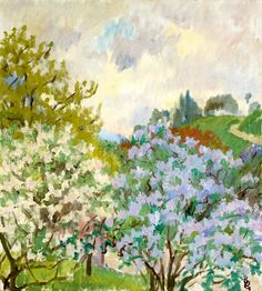 Landscape Spring Press by Giovanni Giacometti (Switzerland)