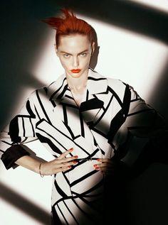 Photo Sasha Pivovarova by David Sims for Vogue Paris August 2014