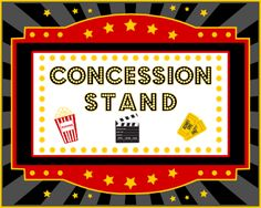 Concession stand printable backdrop