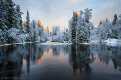 """Talviaamun heijastuksia"" by Petri Puurunen Finland Helsinki, Finland Travel, Lapland Finland, Winter Magic, Winter Scenery, Winter Is Here, Nature Pictures, Amazing Nature, Vacation Trips"