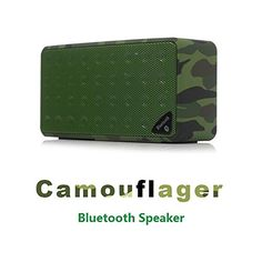 EXKOKORO(TM)Camouflager Surround Sound Portable Wireless Bluetooth Speaker Subwoofer with Powerful Bass,Replacement Battery/Micro SD/MIC/USB/AUX