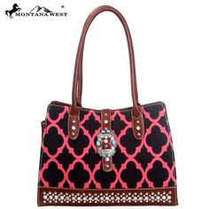MW82-8555 Montana West Western Buckle Collection Handbag