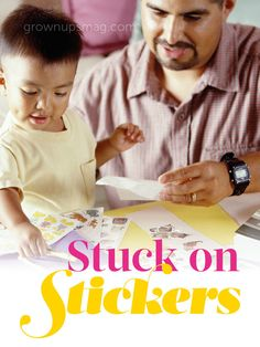 Stuck on Stickers | Grown Ups Magazine - Stickers aren't just for scrapbooking. Pick up a few fun packs and get your kids motivated!
