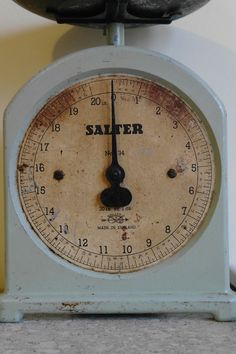 Vintage Duck Egg Blue Kitchen Scales by alltheseprettythings, £25.00