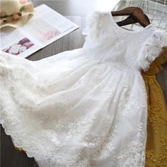 Girl Dress Kids Dresses For Girls Mesh Casual Lace Embroidery Princess Baby Girl Clothes Summer Sleeveless Dress Kids Clothes Girls Summer Outfits, Kids Outfits, Summer Girls, Summer Clothes, Wedding Dresses For Girls, Girls Dresses, Baby Wedding Outfit Girl, Lace Outfit, Dress Lace