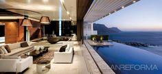 Salon estilo moderno color marron, marron, beige, blanco diseñado por Alfredo Melo Ayala | Arquitecto