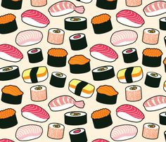 Sushi Party Fabric By Cynthia Arre On Spoonflower