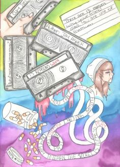 Emma Fuller's entry for our Banned Books Trading Card Contest!  Banned/Challenged Book: 13 Reasons Why