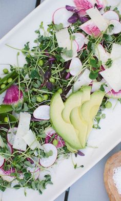 Pea Shoot, Radish & Avocado Salad recipe