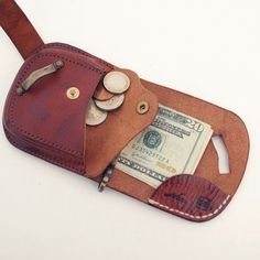 Leather Wallet with Coin Pouch 1