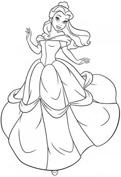Free Printable Belle Coloring Pages For Kids 06 Drawings
