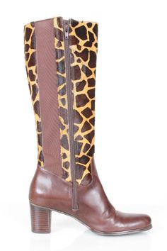 Diego Di Lucca Size 8M Leather & Pony Hide Riding Boot 214 B515  | eBay