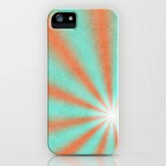 Sun Beams Orange iPhone Case by Fine2art - $35.00
