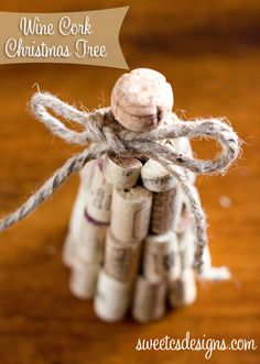 wine cork christmas tree...perfect ornament for wine lovers