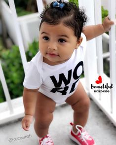 Gorgeous baby girl - Outfits for Kinslyee - Cute Mixed Babies, Cute Black Babies, Black Baby Girls, Beautiful Black Babies, Cute Baby Girl, Beautiful Children, Cute Babies, Baby Kids, Black Boys