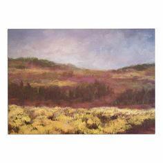 KESS InHouse Cyndi Steen 'Field of Yellow' Brown Green Dog Place Mat, 13' x 18' => Unbelievable dog item right here! : Dog food container
