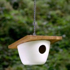 ceramic birdhouse lisa jones
