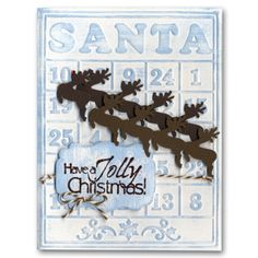 Holiday Card 37 Santa Bingo Reindeer Punch