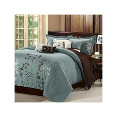 Chic Home Bliss Garden 12 Piece Comforter Set Floral Embroidered Design Bed in a Bag Sage Bed Sets, Ruffle Bedding, Bedding Sets, Western Comforter Sets, Rose Comforter, Green Comforter, Floral Bedding, King Comforter, Camas King