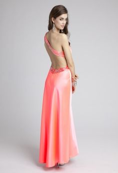 Prom Dresses 2013 - Satin Prom Dress with Illusion Beaded Waist from Camille La Vie and Group USA