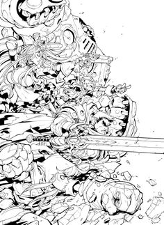 Battle Chasers Nightwar by Joe Madureira - Part 1 by Pendecon on DeviantArt Comic Book Artists, Comic Artist, Comic Books Art, Art Sketches, Art Drawings, Battle Chasers, Character Art, Character Design, Joe Madureira