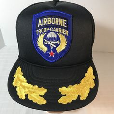 1172c39009ffd Airborne Troop Carrier Military Mesh Snapback Trucker Hat Ball Cap Patch   SanSun  TruckerHat