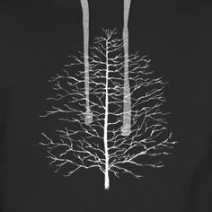 Single Tree White - Männer Premium Hoodie Single Tree, Dandelion, Chandelier, Hoodie, Ceiling Lights, Flowers, Shirts, Home Decor, Cowl Neck Hoodie