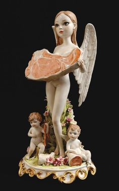 Mark Ryden Angel of Meat Sculpture Lowbrow Lowbrow artwork Pop surrealism Pressure Printing Porterhouse Editions Mark Ryden, Pop Surrealism, Art And Illustration, Arte Lowbrow, Meat Art, Art Actuel, Bizarre, Victoria Secret Fashion Show, Art Design