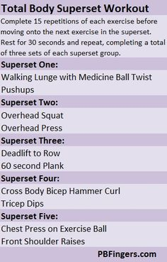 Total Body Superset Workout workouts