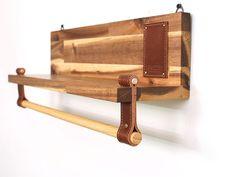 Estante de madera estante estante de poste madera y por Handians